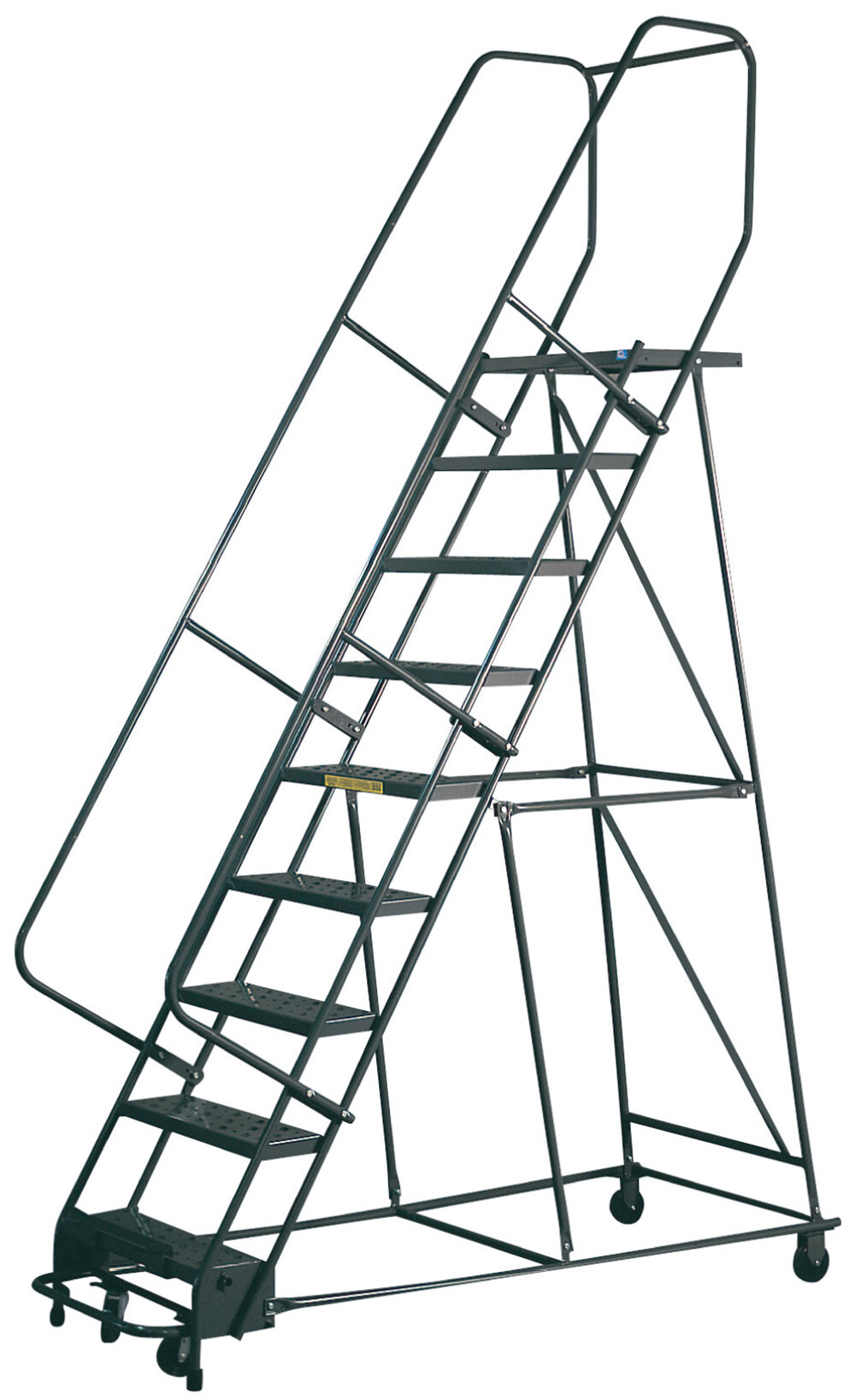 Spg Gillis 9 5 Ft Steel Rolling Ladder With 300 Lb Load Capacity Wayfair