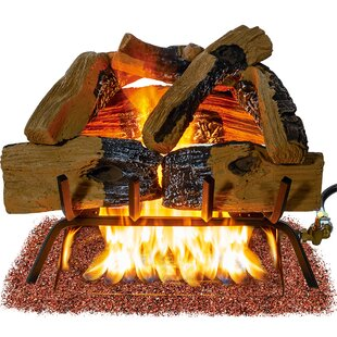 Vented Natural Gas/Propane Fireplace Log Set By Barton
