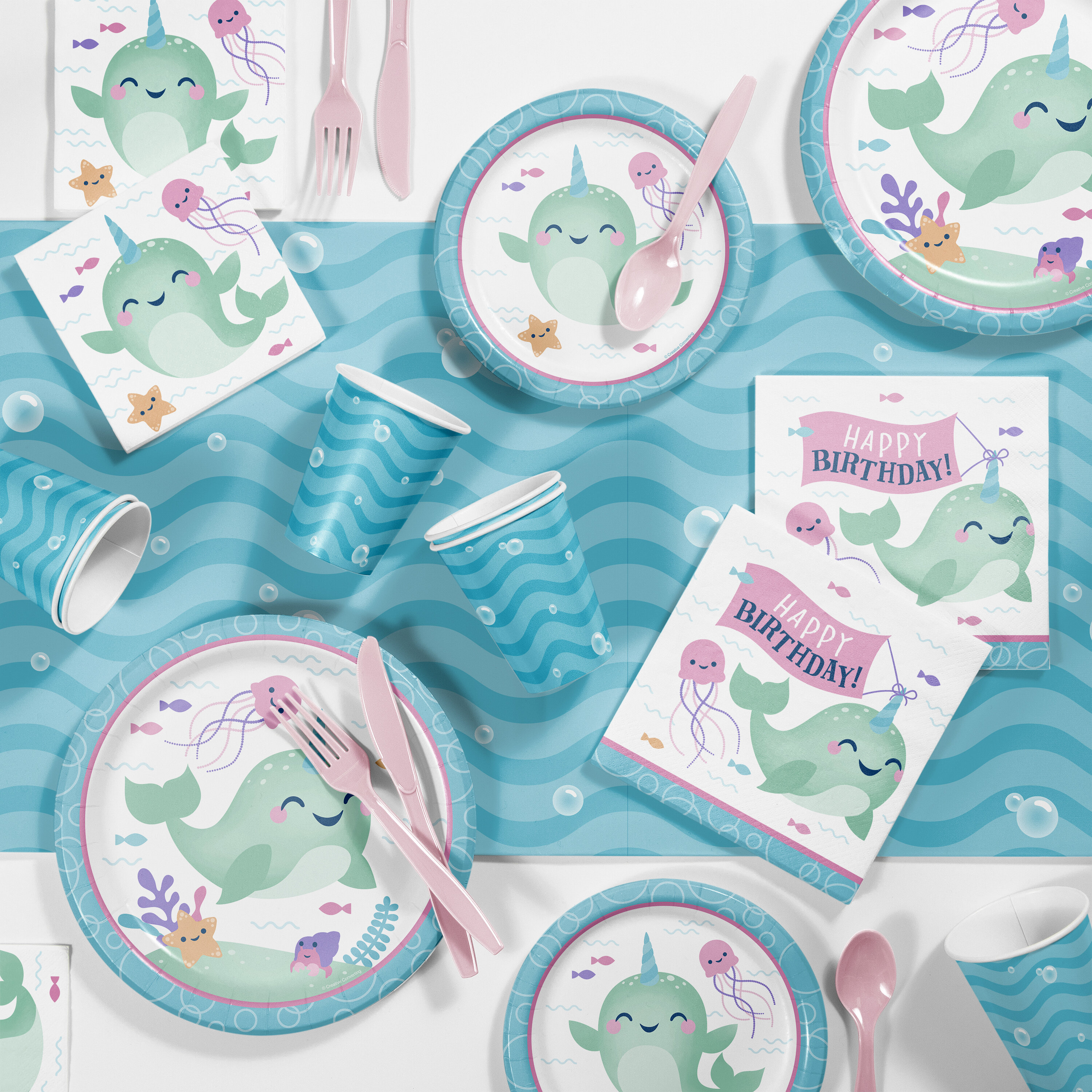 Creative Converting Narwhal Party Supplies Kit For 8 Guests Wayfair