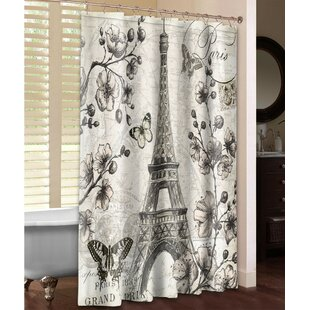 Paris in Bloom Single Shower Curtain