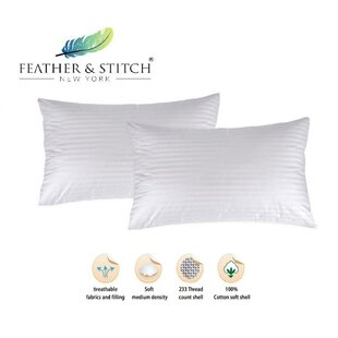 Hypoallergenic Down Alternative Sleeping Pillow (Set of 2)