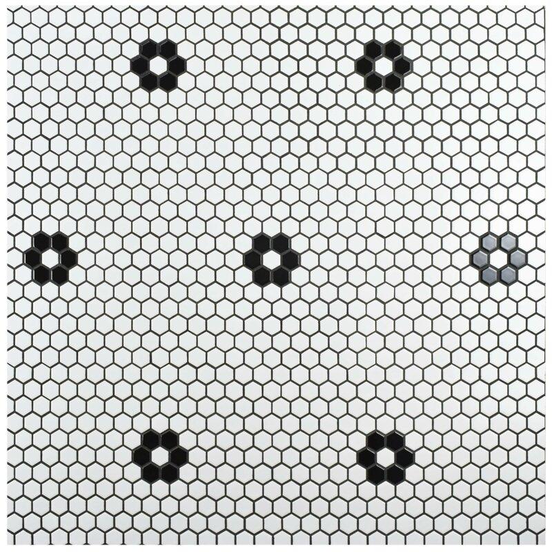 """EliteTile  Retro 0.875"""" x 0.875"""" Porcelain Mosaic Tile"""