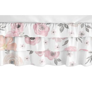 Comparison Watercolor Floral 3-Tiered Crib Skirt BySweet Jojo Designs