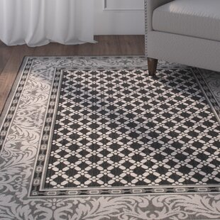 Great Price Benningfield Rectangle All Weather Black Indoor/Outdoor Area Rug By Charlton Home
