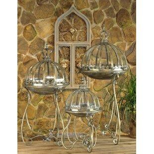 3 Piece Metal/Glass Lantern Set by Bloomsbury Market