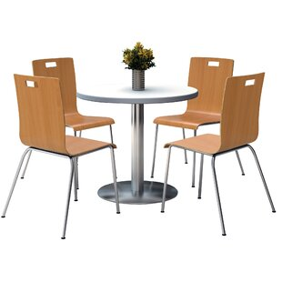 Reviews Round Cafeteria Table and Chair Set By KFI Seating
