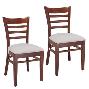 Best Price Delrick Wood Upholstered Dining Chair (Set of 2) by Red Barrel Studio Reviews (2019) & Buyer's Guide
