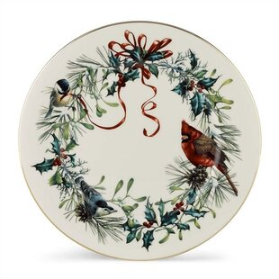 Winter Greetings 10.75\  Dinner Plate (Set of 6)  sc 1 st  Wayfair & Christmas and Holiday Plates You\u0027ll Love | Wayfair