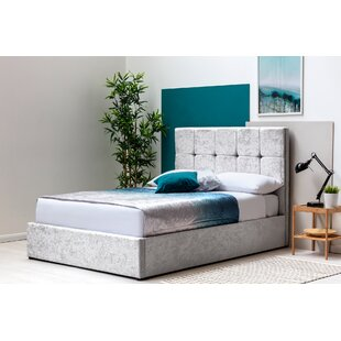 Keeney Double (4'6) Upholstered Ottoman Bed With Mattress In , Double (4'6) By Ebern Designs