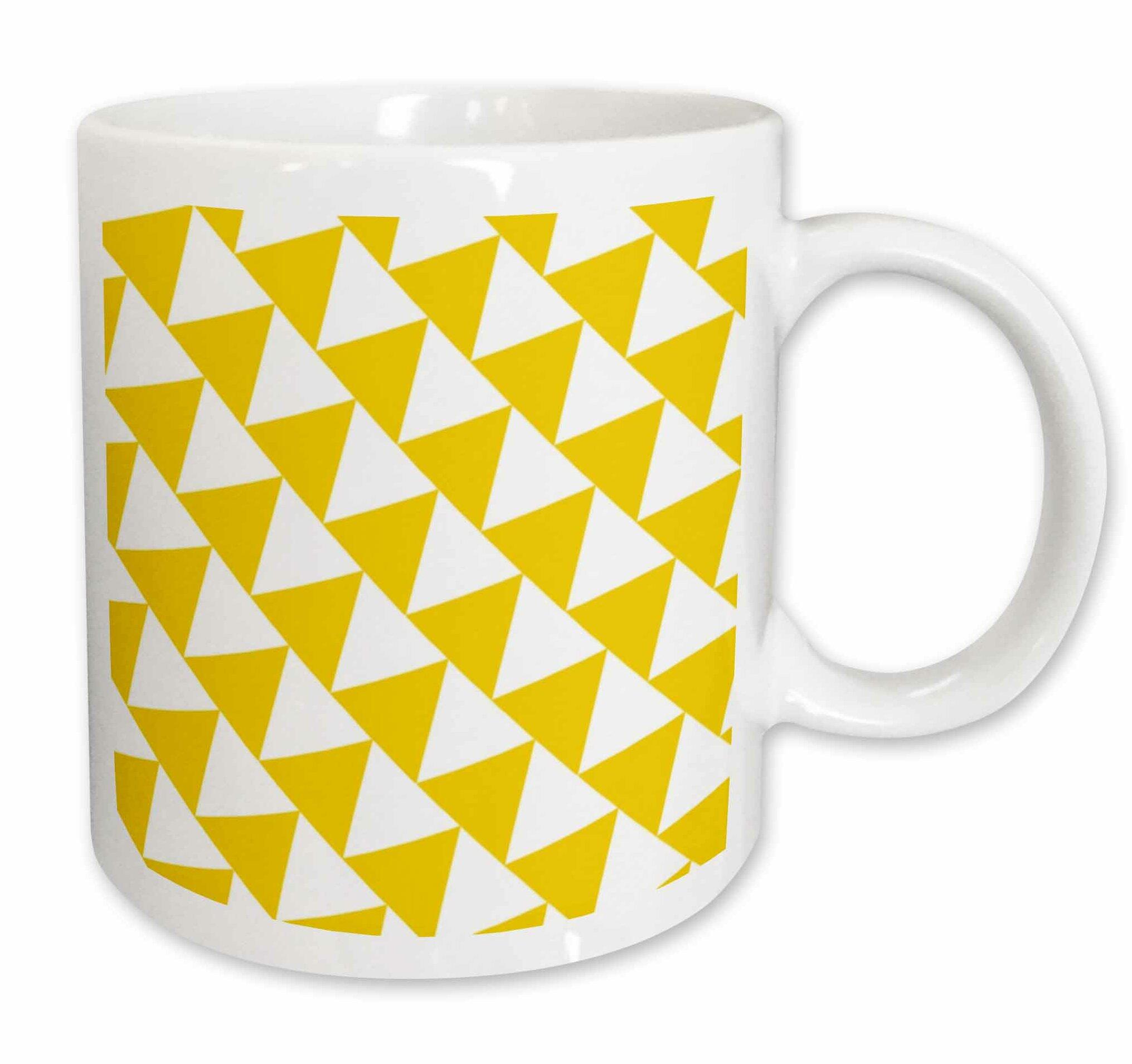 3drose Triangle Pattern Coffee Mug Wayfair