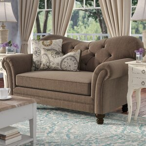 Remmie Stationary Loveseat by Ophelia & Co.