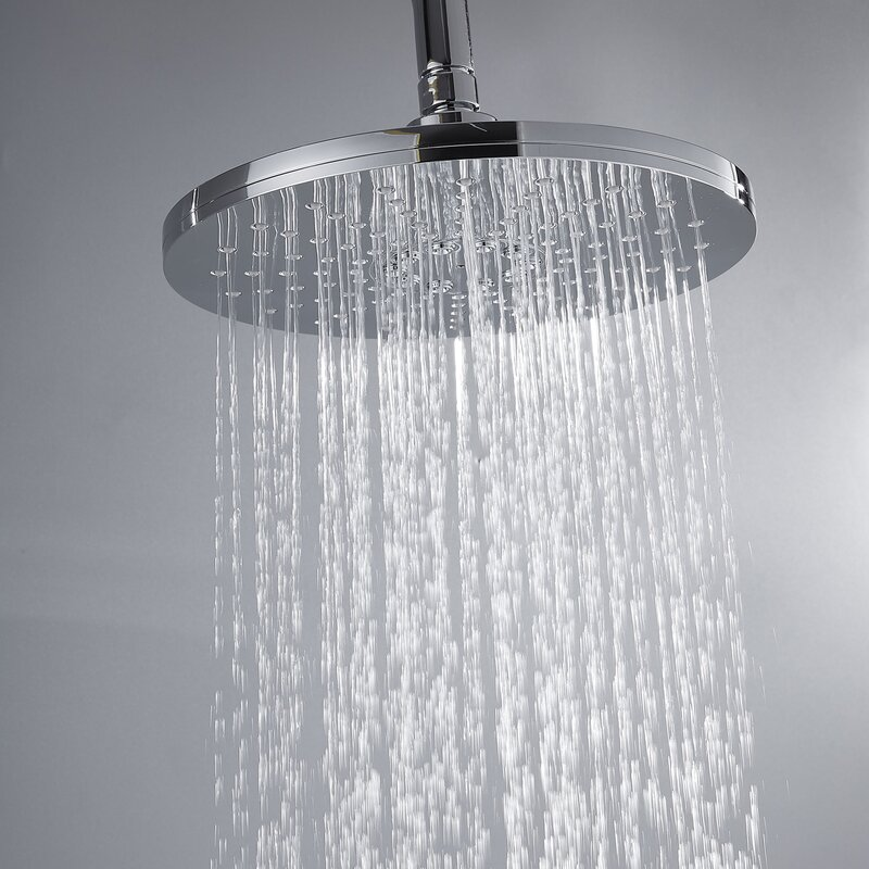 Amuer International Rainfall Pressure Balanced Complete Shower System With Rough In Valve Wayfair