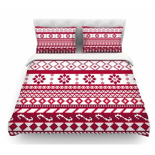 Fairisle Christmas Pattern by Noonday Design Featherweight Duvet Cover
