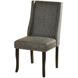 Issac Modified Semi Wingback Upholstered Dining Chair Alcott Hill