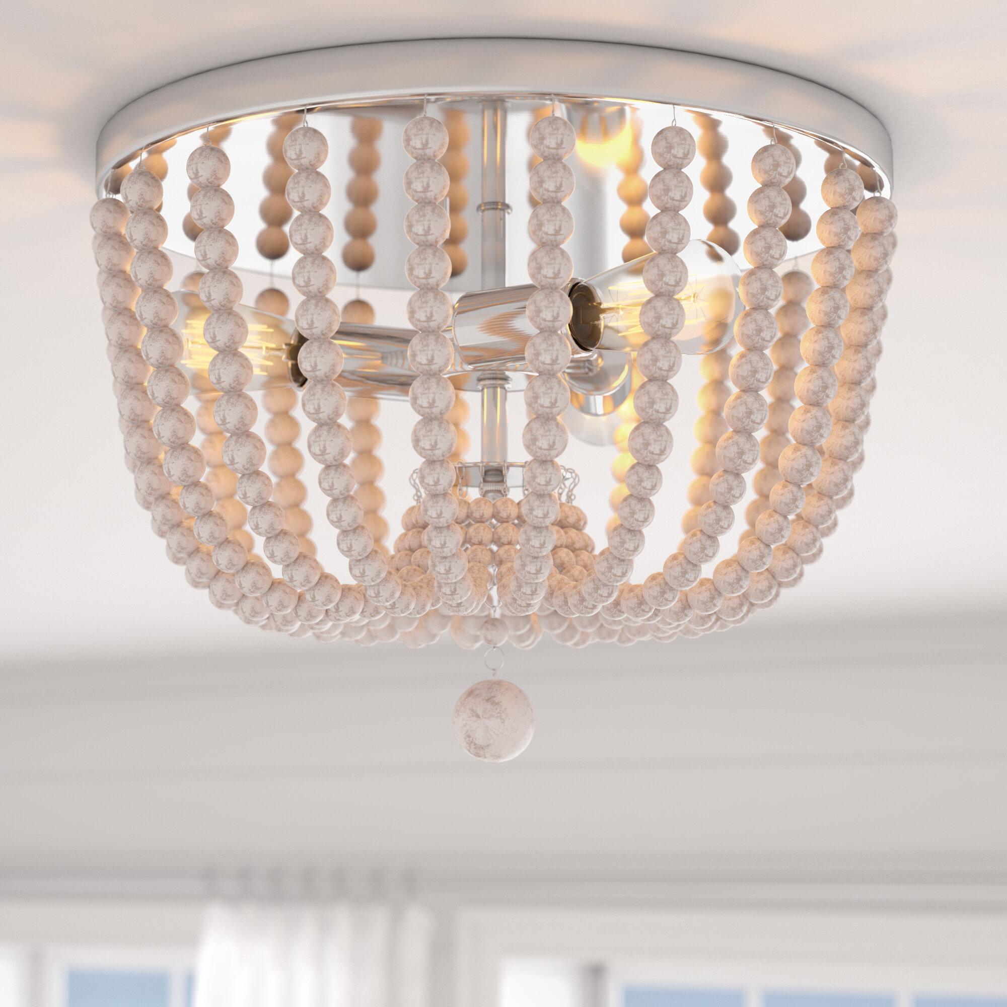 Beachcrest Home Tilden 3 Light 40 1cm Flush Mount Reviews Wayfair Co Uk