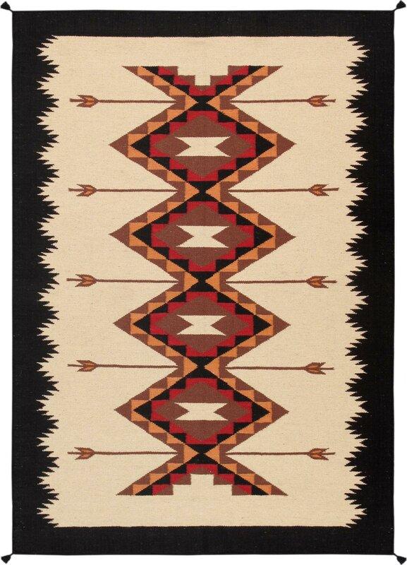 Kilim Hand-Woven Wool Natural Area Rug #kilim #navajo #rug