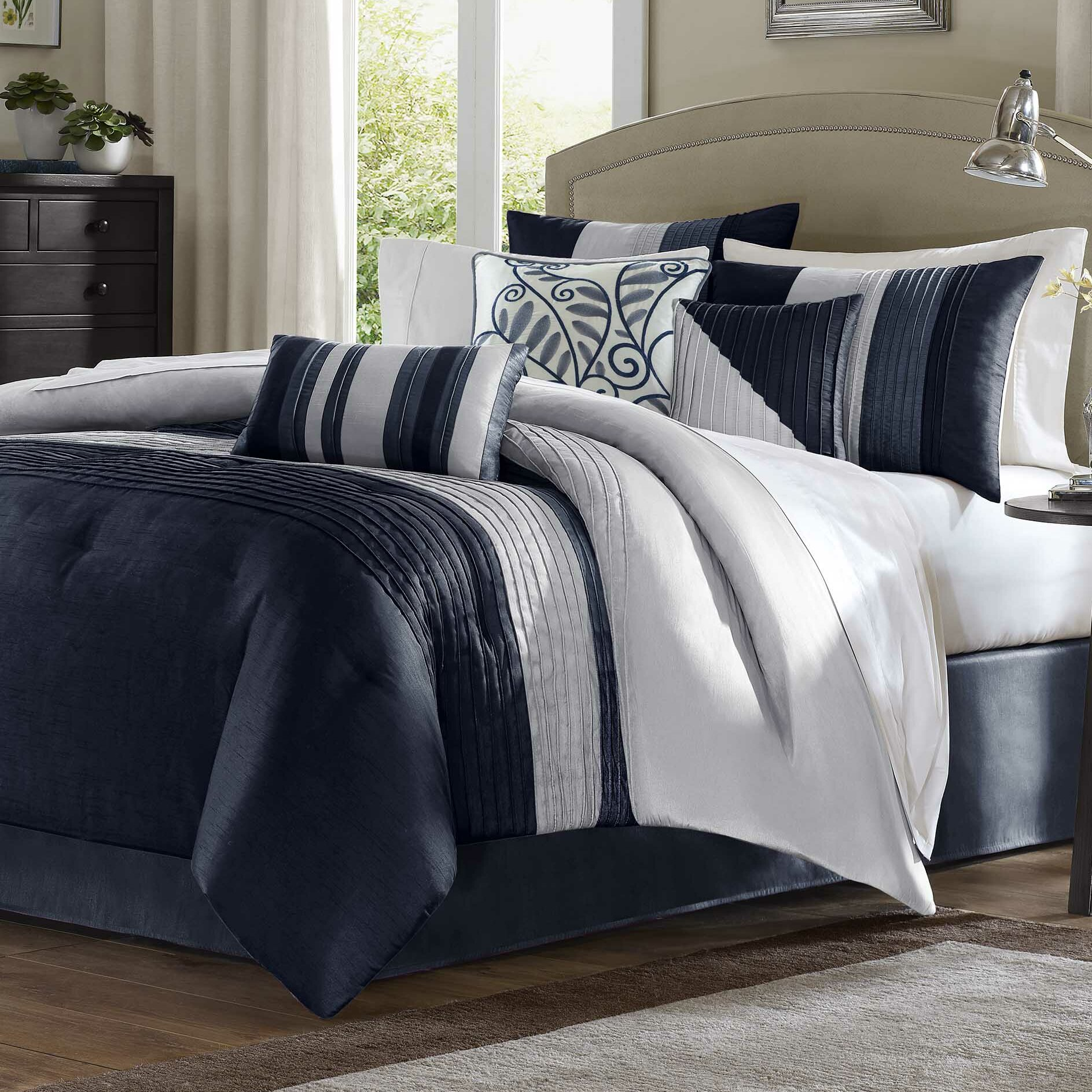 King Size Navy Comforters Sets Free Shipping Over 35 Wayfair