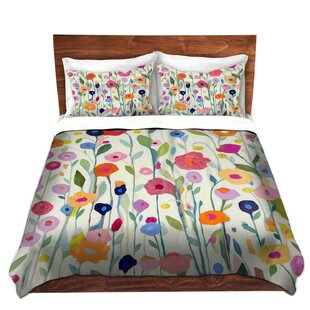 East Urban Home Gentle Soul Flowers Duvet Cover Set