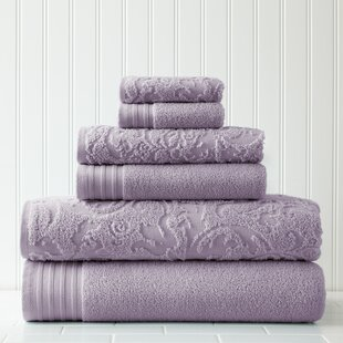 Jarred 6 Piece 100% Cotton Towel Set