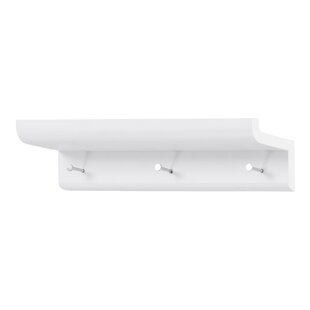 Wall Mounted Coat Rack With Shelf By Symple Stuff