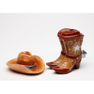 Cowboy Hat and Boots 2-Piece Salt & Pepper Set