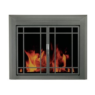 Edinburg Prairie Cabinet Style Steel Fireplace Doors by Pleasant Hearth