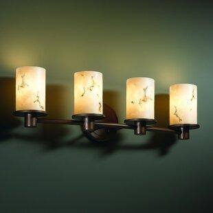 Proto 4 Light Cylinder w/ Flat Rim Bath Vanity Light by Wrought Studio