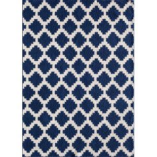Best Reviews Ardsley Blue/White Area Rug ByBeachcrest Home