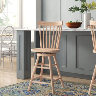 Affordable Lynn 24 Swivel Bar Stool by Mistana Reviews (2019) & Buyer's Guide