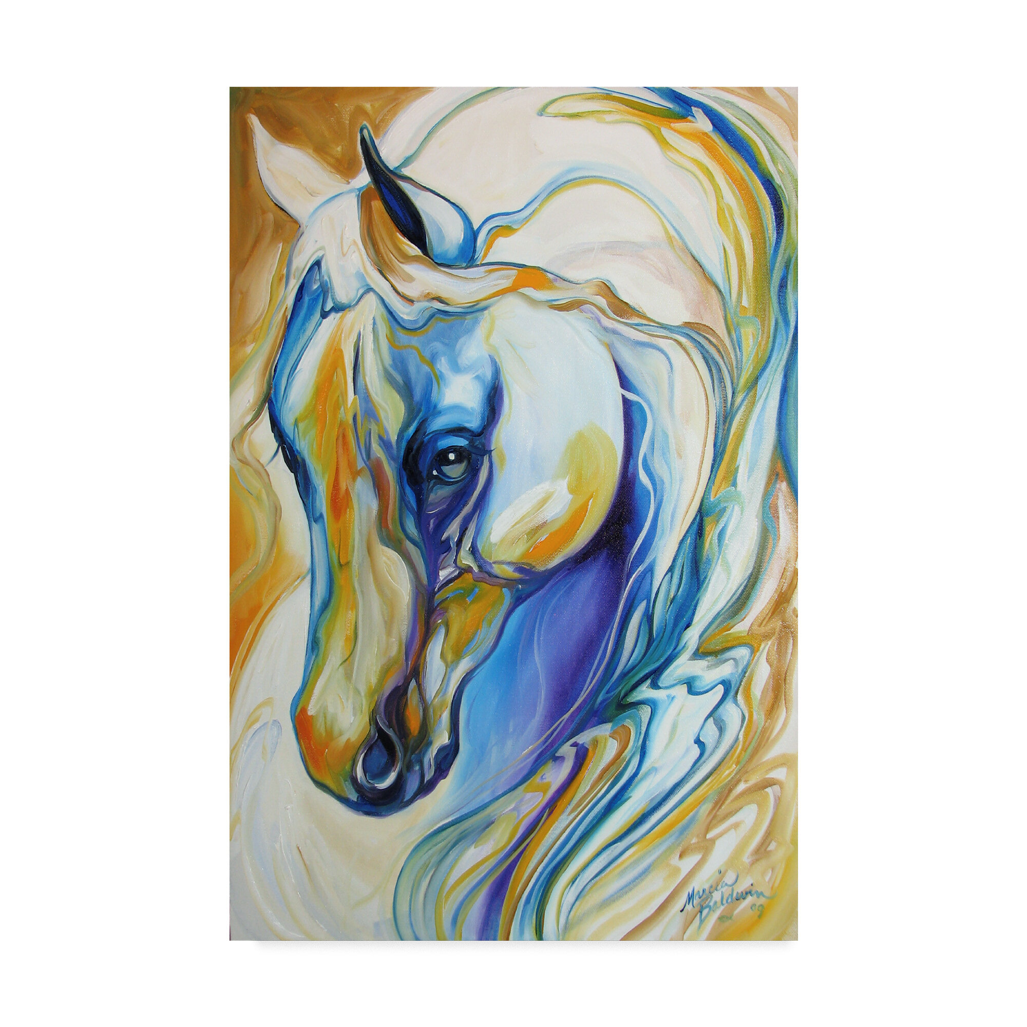 Trademark Art Arabian Abstract Acrylic Painting Print On Wrapped Canvas