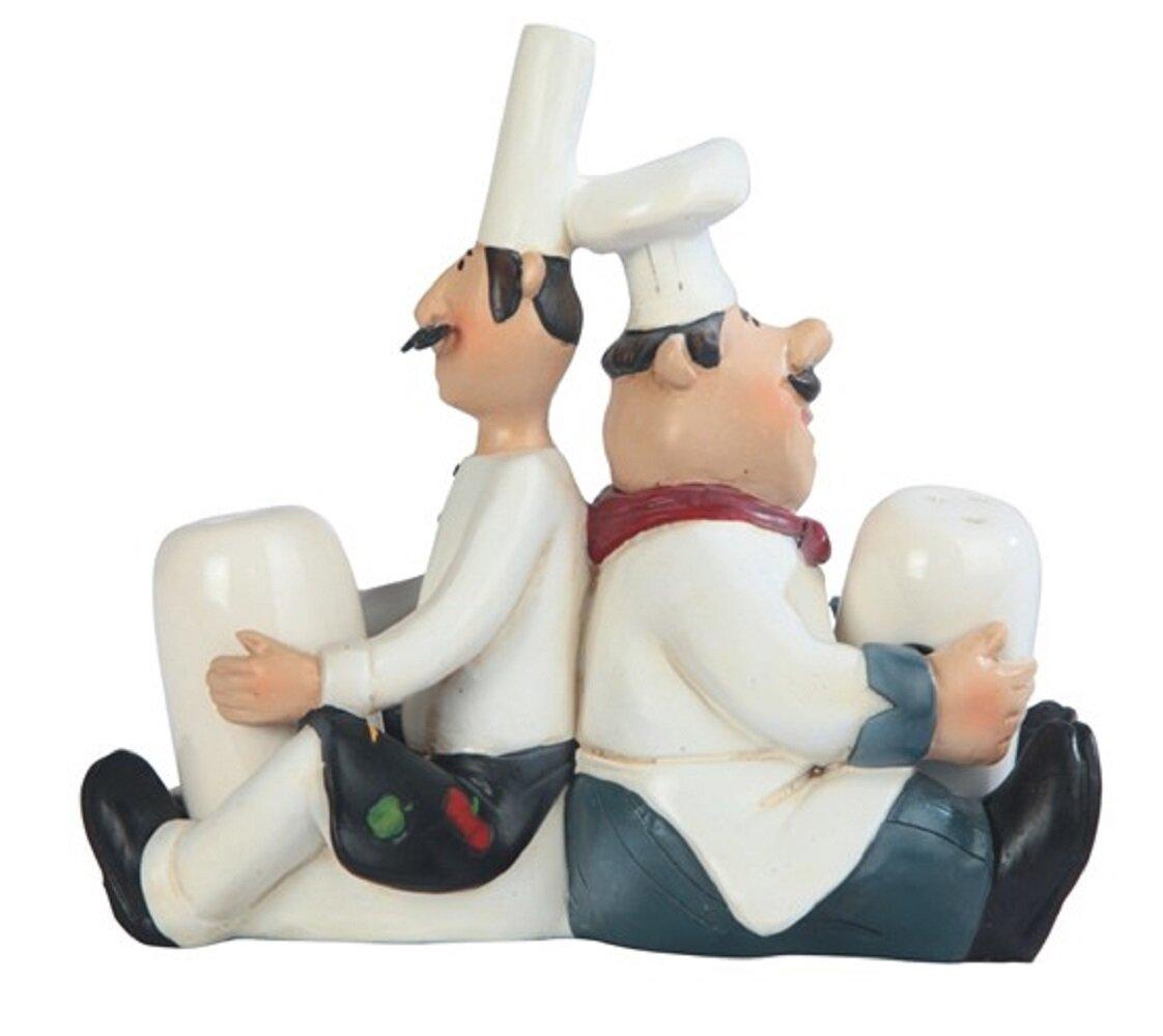 Fc Design Chef Leaning Back To Back Salt And Pepper Shaker Set Wayfair