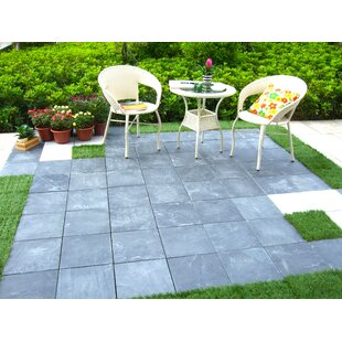 Courtyard 118 X 118 Stone Interlocking Deck Tiles In Gray