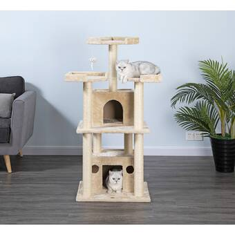 New Cat Condos 64 New Stairway Cat Condo Reviews Wayfair