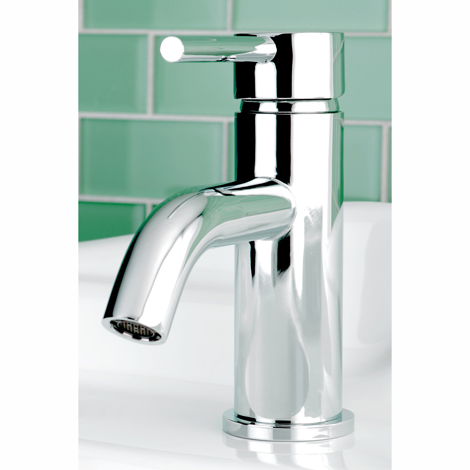 Kingston Brass Concord Single Hole Bathroom Faucet with Pop-Up Drain ...