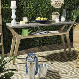 Union Rustic Franklin Concrete Console Table