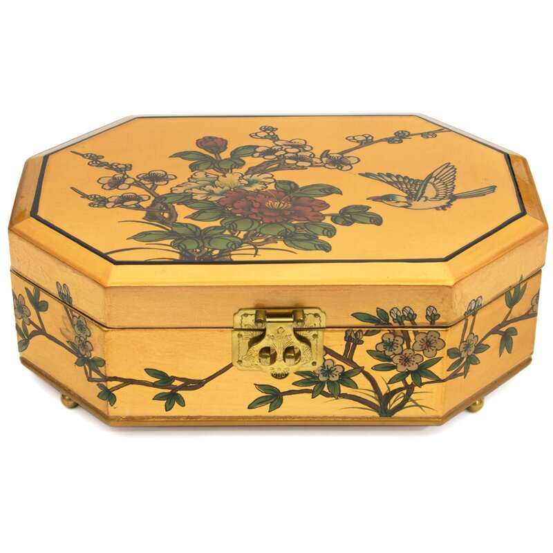 Oriental Furniture Violetta Asian Jewelry Box Reviews Wayfair