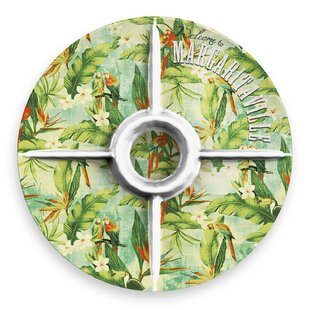 Margaritaville Vintage Tropical Melamine Chip and Dip Platter