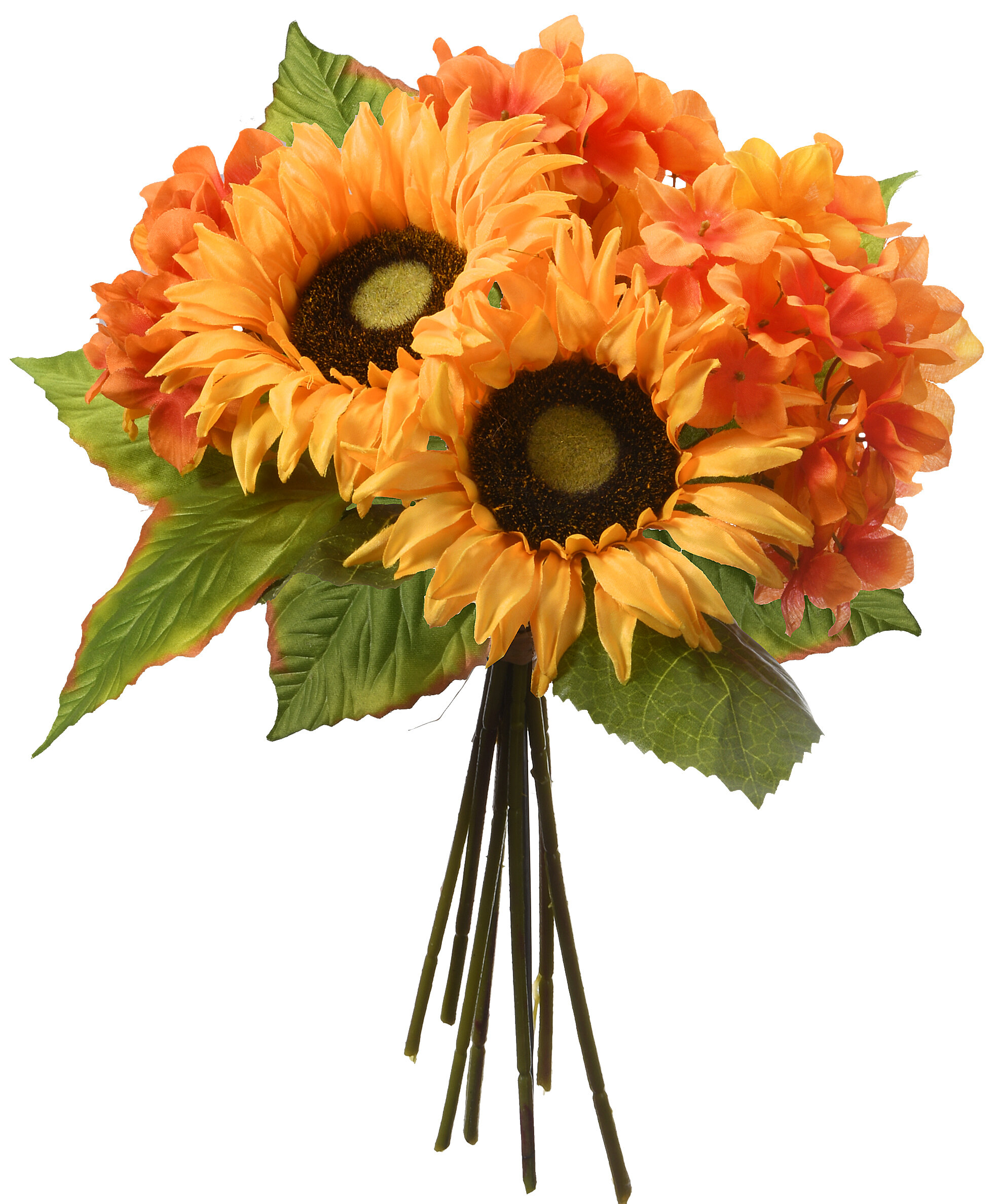 August Grove Sunflowers And Hydrangeas Mixed Stem Wayfair