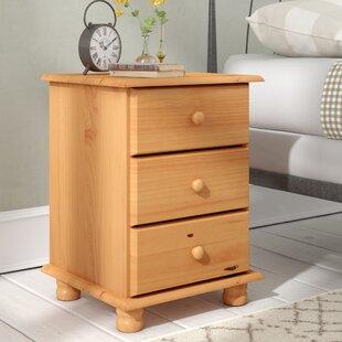 Agade 3 Drawer Bedside Table By Natur Pur
