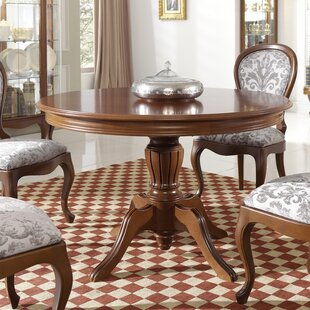 Avalos Round Solid Wood Dining Table