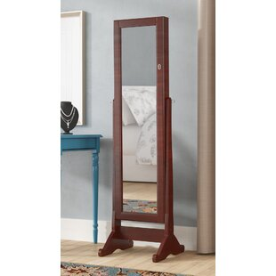 Neilsen Cheval Mirror Jewelry Armoire with Mirror by Alcott Hill