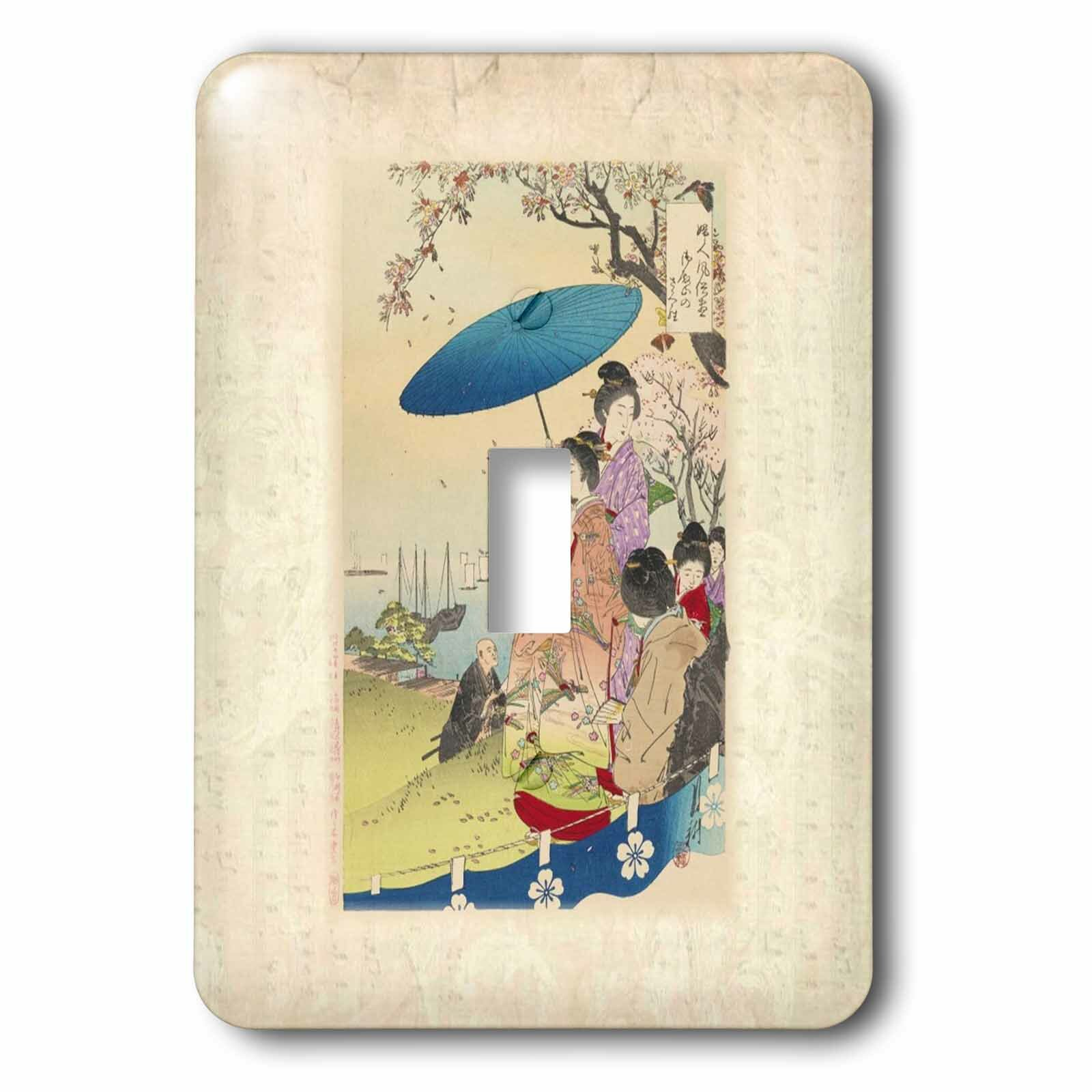 3drose Geishas Under Cherry Blossom 1 Gang Toggle Light Switch Wall Plate Wayfair