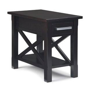 Burriss End Table with Storage by Charlton Home