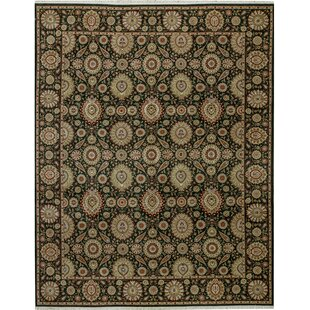 Affordable One-of-a-Kind Manchuria Handwoven 11'9 x 14'9 Wool Beige/Black Area Rug By Bokara Rug Co., Inc.