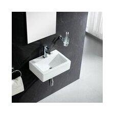 Modern Wall Hung 17 Wall Mount Bathroom Sink