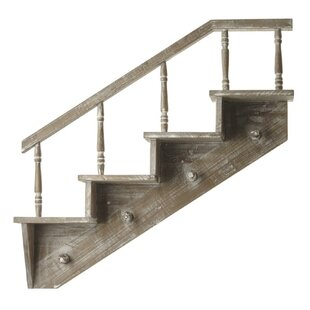 Rosaire Staircase Wall Mounted Coat Rack By Fleur De Lis Living