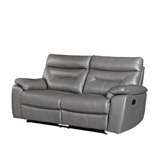 Tommie Leather 3 Seater Reclining Sofa By Ebern Designs