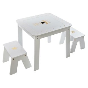 Giovanny Children's 3 Piece Play Table And Stool Set By Zoomie Kids