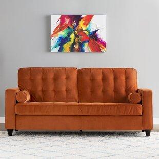 save to idea board - Orange Sofa