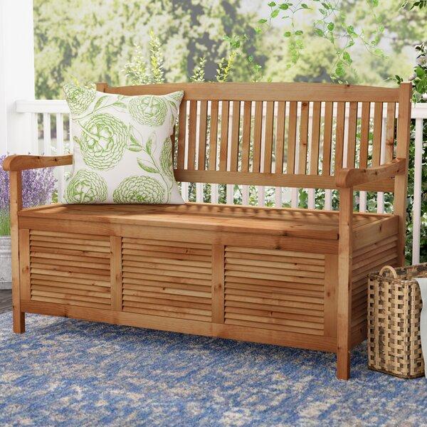 Miraculous Teak Outdoor Storage Bench Wayfair Ibusinesslaw Wood Chair Design Ideas Ibusinesslaworg